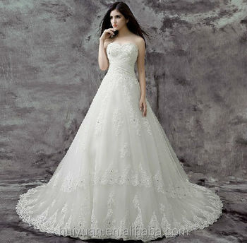 white detouchable strap lace ball gown turkish wedding dresses