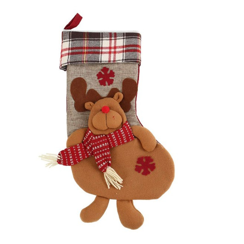 Oempromo wholesale customs felt burlap christmas stockings