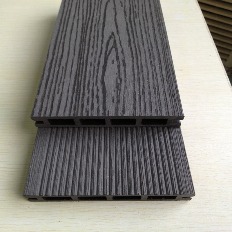 Wpc outdoor co extrusion wood plastic composite decking for Plastic composite decking