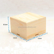 Custom Branded Logo Unfinished Natural Color Wooden Packaging Box for Gift