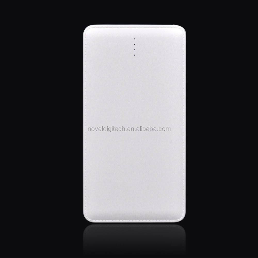 Hot selling powerbank 10000mah with dual charging cables for your Andriod and iPhone