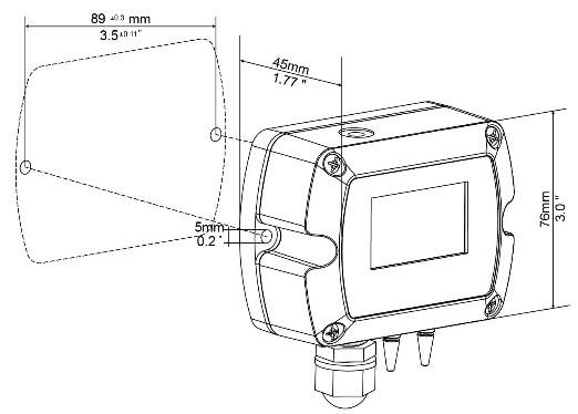 Transmisor de presión diferencial para el conducto de aire