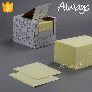 Factory Manufacture Quarter-fold Stacks Household Nonwoven spunlace nonwoven novelty cleaning cloth Grill