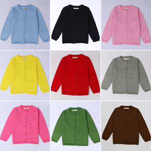 Spring Autumn Children Casual Cardigan Sweaters 15 Colors to Choose Fashion Design Knitting Kids Coat