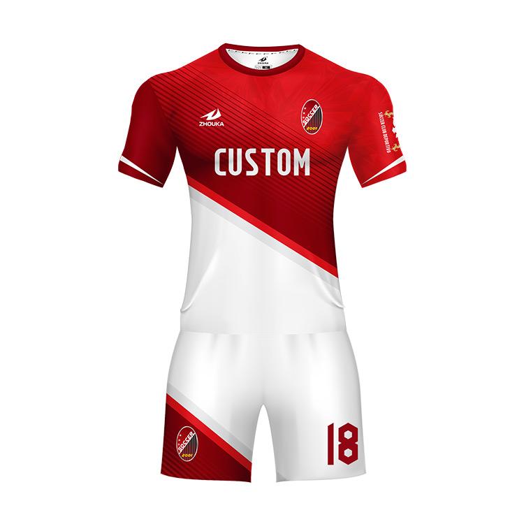 Al por mayor precio de fábrica de Jersey del balompié uniforme sublimación  fútbol últimos diseños calidad 0ad5f2efd0fbd