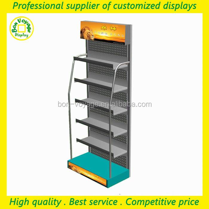 metal material free standing car audio display stand for car accessories shop