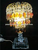 sell by the piece restaurant crystal table lighting candle lamps (R-1082