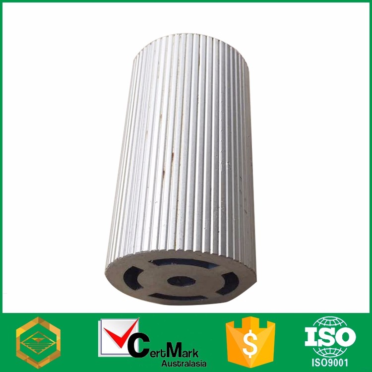 Guangzhou factory price sand blasting round aluminum industrial profile