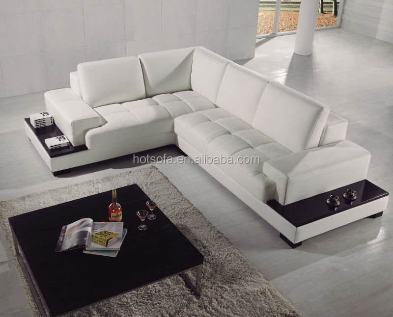 Modern Cream Sofa Set Designs L Shape Sectional Cheap Leather Sofa