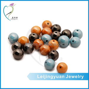 China imitated colorful 4mm round ball turquoise stone beads