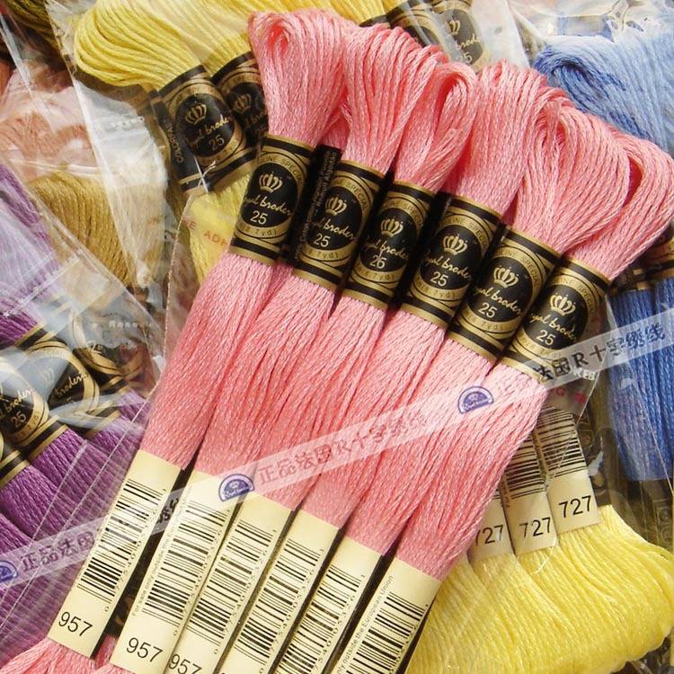 France Royal 100% Egyptian Cotton embroidery thread
