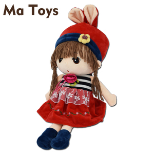 Personalized stuffed soft Lovely plush Cartoon human Girl baby Rag Doll toys
