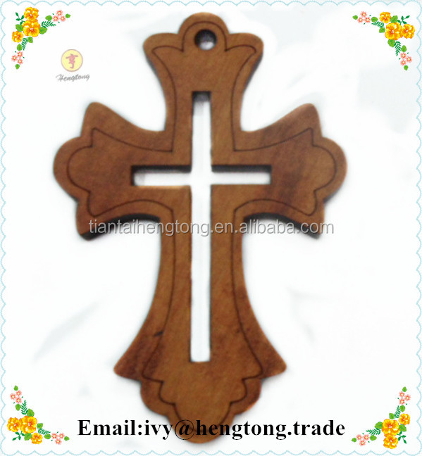 Handmade custom wood cross, religious catholic crucifix, high quality carved wood pendant cross crucifix