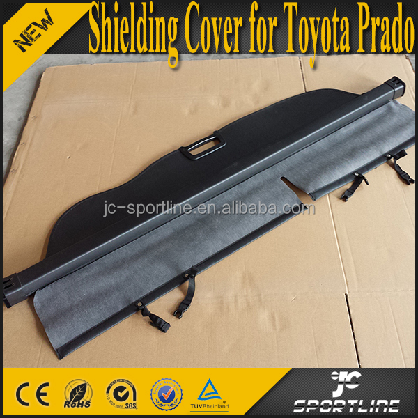 PU Black Car Retractable Cargo Cover for Toyota Prado 2010