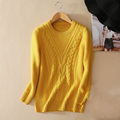 Women s 100 cashmere knitting formal gray pullover sweater with O neck long sleeves