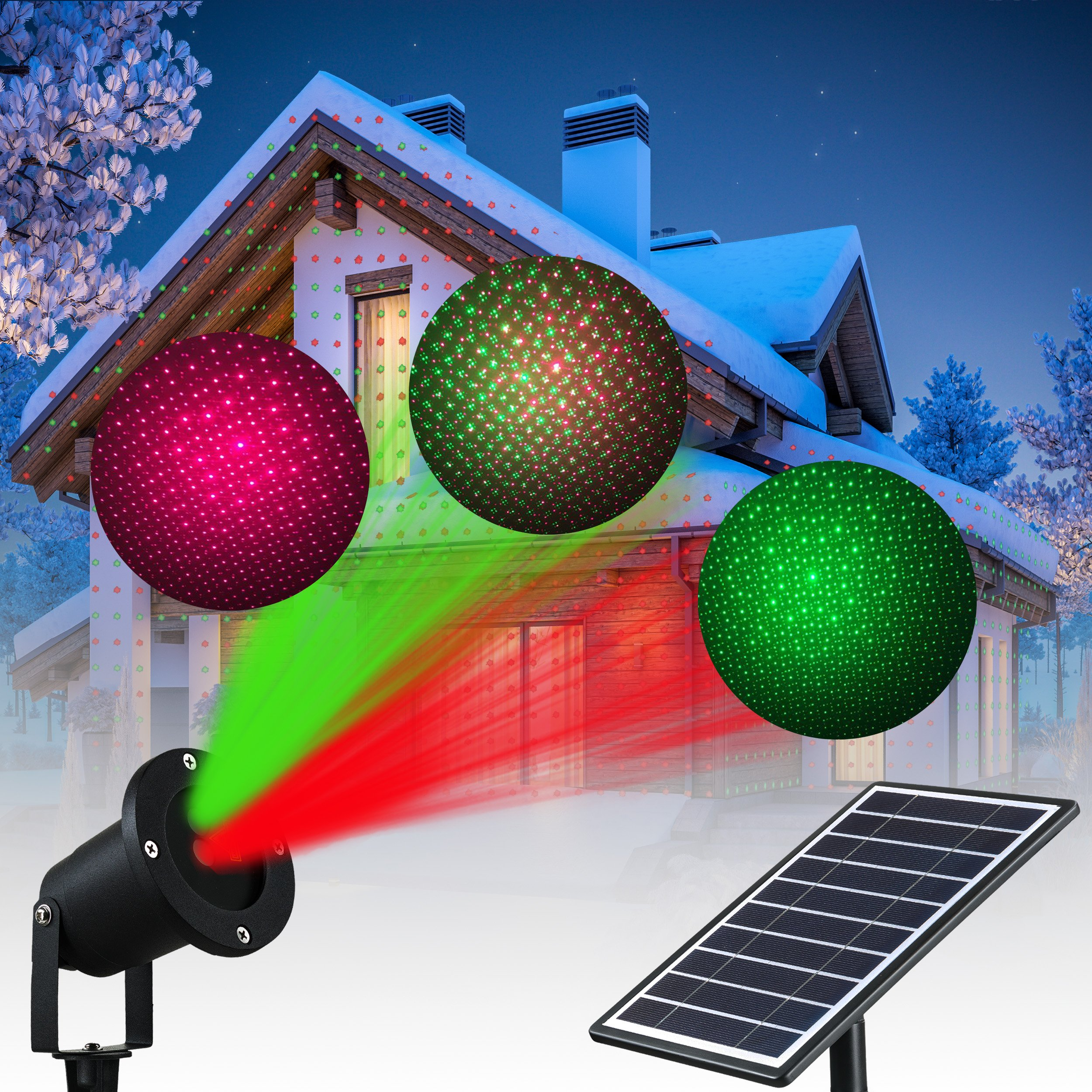 get quotations solario outdoor solar powered laser light projector w all metal aluminum design extra