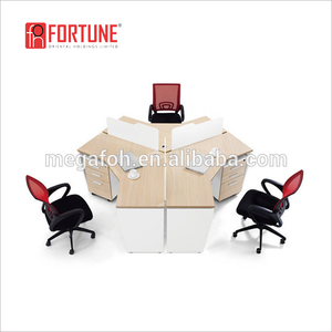 High end furniture workstation office cubicles for 3 person(FOH-D0522)