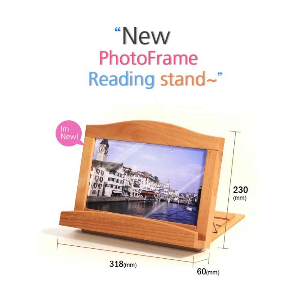 Woodrow House New Photo Frame Reading Stand (Tablet PC Stand/ Reading Stand/ Book Holder/ Reading Desk Stand/ Cook Book Stand/ Bible Book Stand)