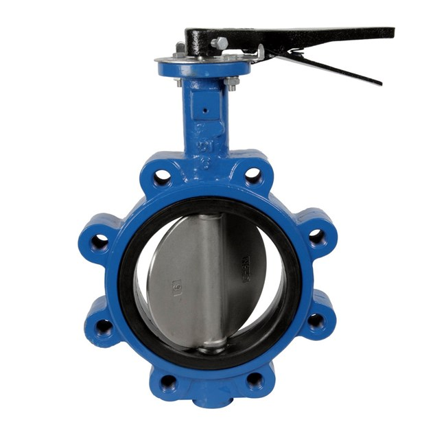 DN50 PN10 PN16 dan 150LB Wafer Jenis Stainless Steel CF8 Disc Cast Iron Wafer Butterfly Valve