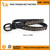 100% factory New arrival western quality buckle beaded belt with rhinestone studs