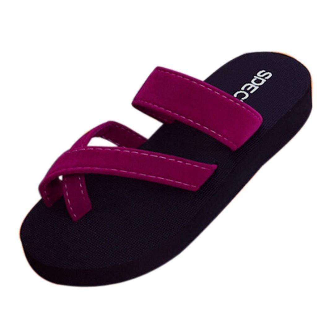 6cb40a04d1f Get Quotations · SUKEQ Fashion Women s Criss Cross Clip Toe Slide Sandals  Summer Casual Thong Flip Flops Slippers Low