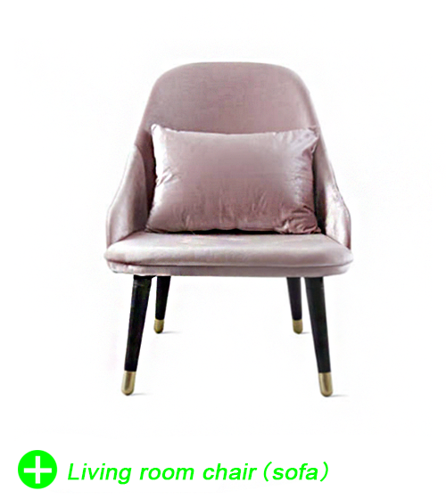 Nordic sofa chair leisure chair home decor living room sofas velvet fabric modern interior decoration negotiation chair