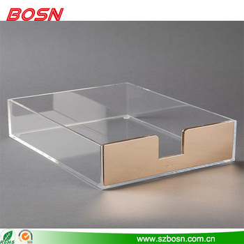 High Quality Office Supplies Clear Acrylic Letter Tray For Sale