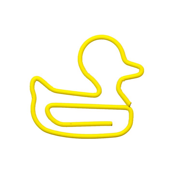 Novelty shape cute yellow duck paper clip metal clip animal shape clip