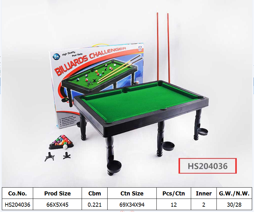 HS204036, Huwsin Toys, Pool ball set,billiards challenger, Sport play set
