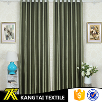 Embossed 100% polyester home decor blackout curtain for the live room