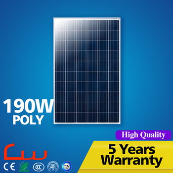 High Efficiency 190 Watt Bipv Solar Energy Panel Price