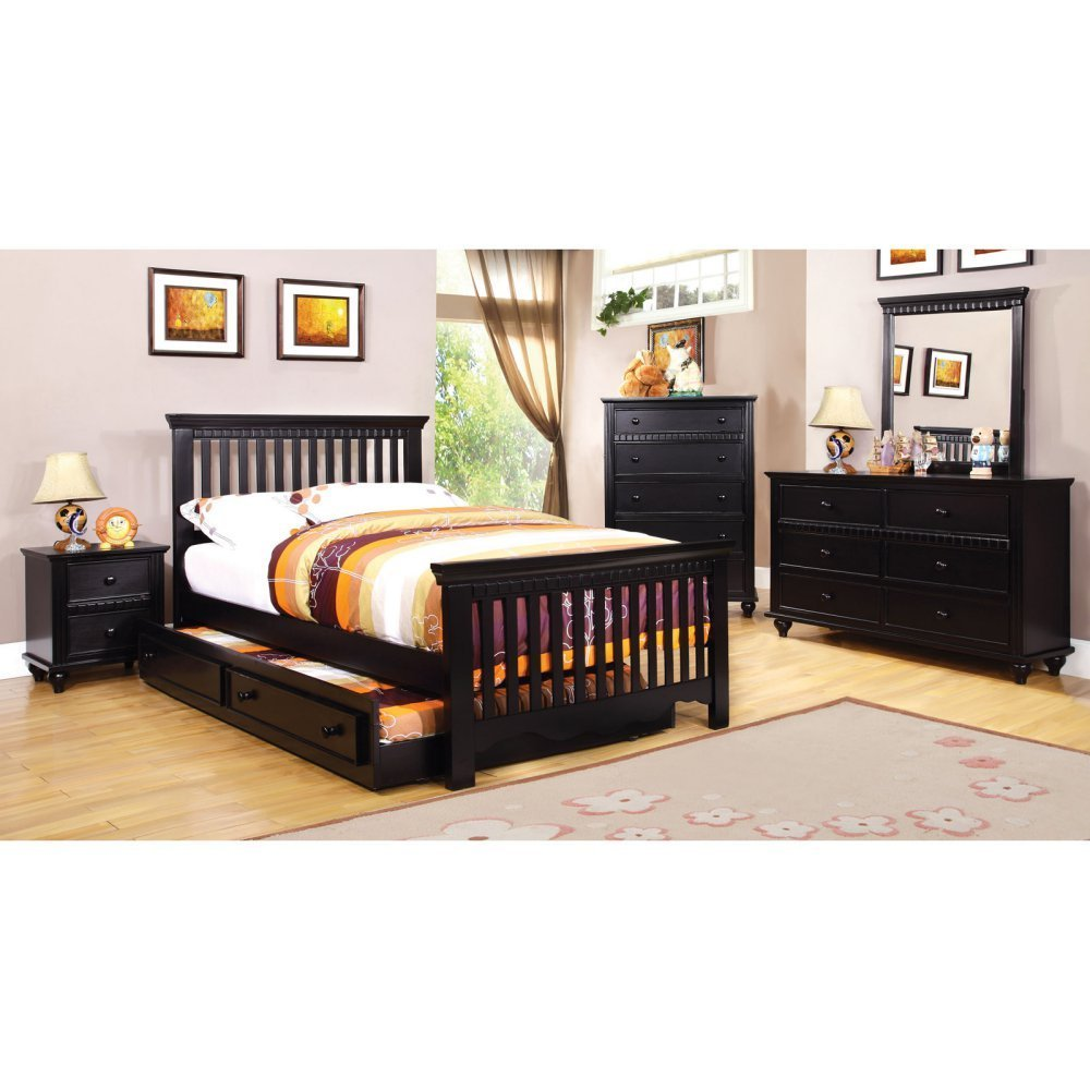 Furniture of America Corine 2-Piece Panel Bed with Trundle - Twin