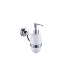 Factory Wholesale Bathroom Metal Glass Hand Manual Liquid Soap Dispenser