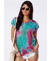 Tie Dye Design Girls Wholesale T Shirt Printing