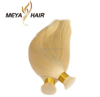 Grade 8A top quality Peruvian virgin hair 613 color blonde silky straight human hair extensions
