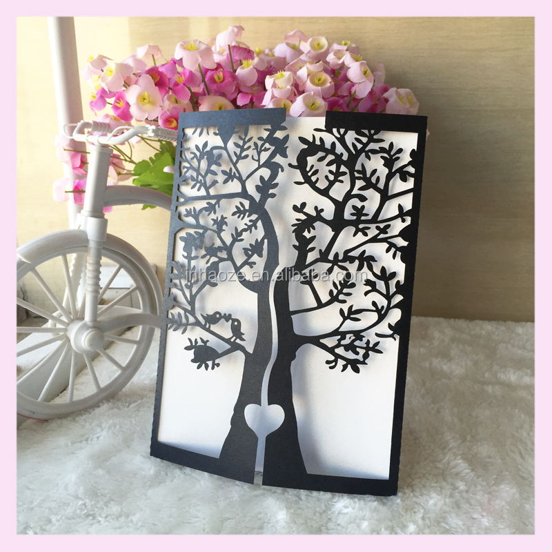 Nature Tree Design 2016 Wedding Invitation Cards Laser Cut Custom ...