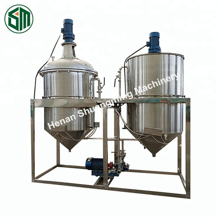 Commercial use large scale soya canola oil refining plant / palm oil bleached deodorized refined machine