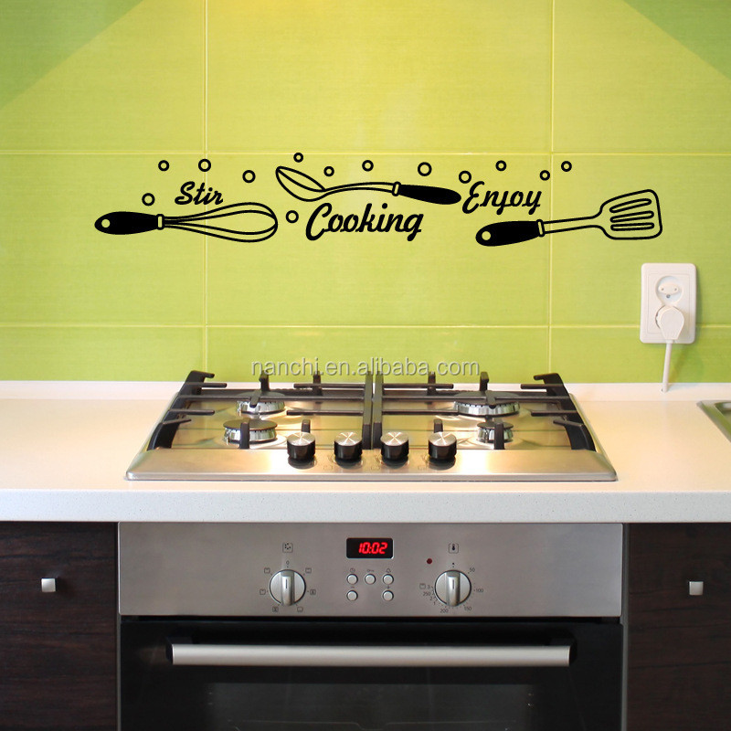 enjoy cooking art wall sticker decoration kitchen removable waterproof wall decals
