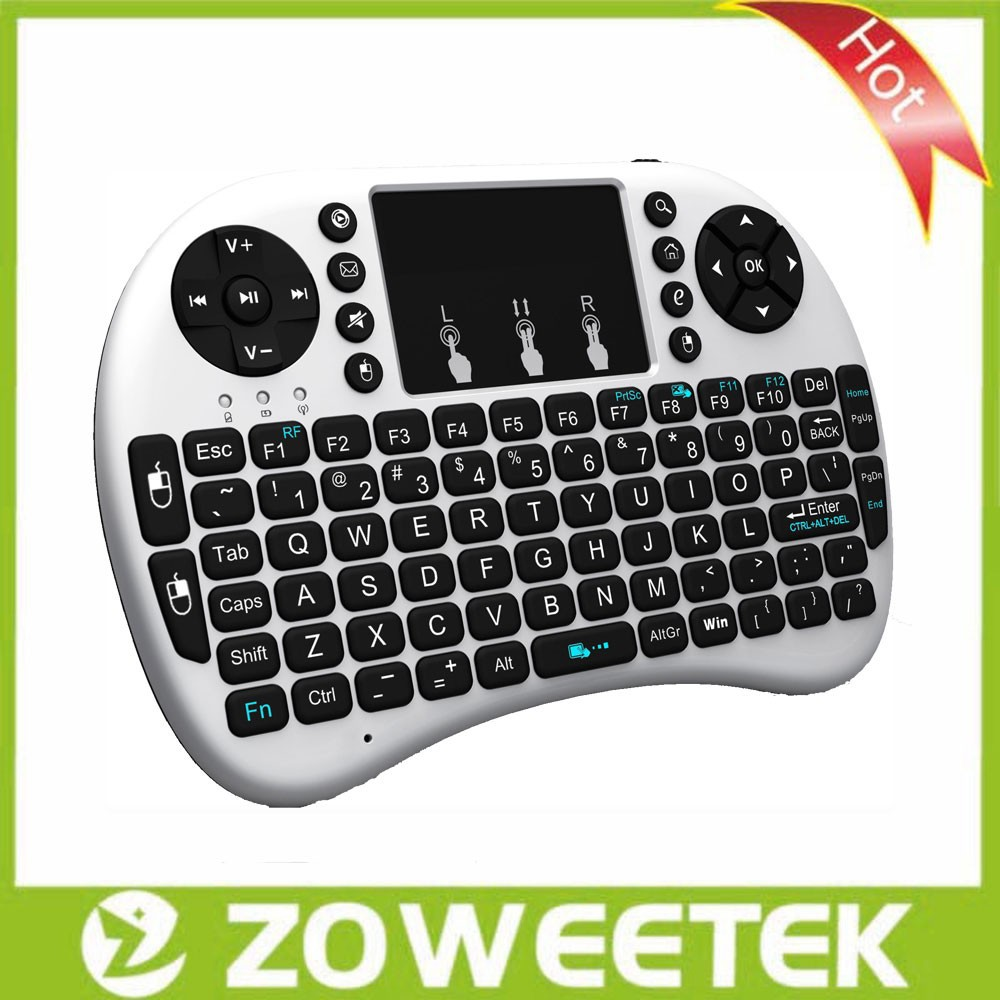 Rii mini i8 2.4G Wireless Keyboard with Touchpad for Smart TV