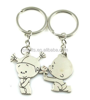 Hot sell Metal love couple keychain for the keys boy and girl funny key  rings for 4ad14b74e0fd