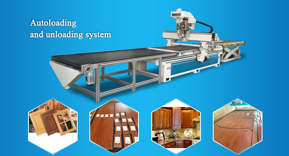 ATC Wood Drilling & Carving For Cabinet Door CNC Router Machine