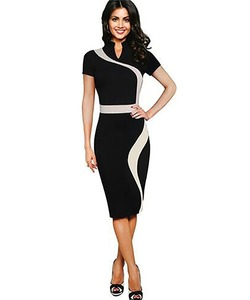 newest lady dress patterns pencil dress elegant modern office ladies formal wear midi dress