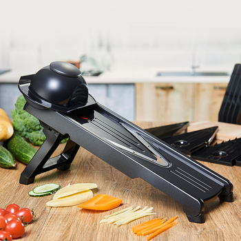 Small MOQ stock 5-blade V food vegetable mandolin slicer