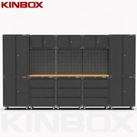 Kinbox 14 Pieces New Design Metal Economic Workbench Garage Storage Tool Cabinet