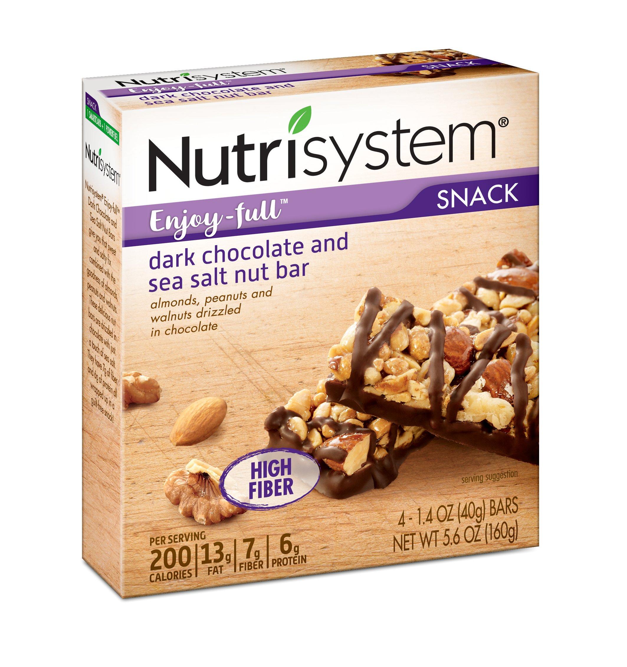 Nutrisystem® Enjoy-full™ Dark Chocolate and Sea Salt Nut Bars, 24 ct