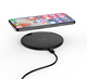 Super Slim Wireless Fast Charger for iphone Qi-enabled 10W Quick Charging Pad with gleamy logo