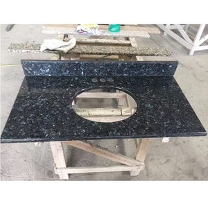 Precut blue pearl laminate bathroom countertops with built in sinks