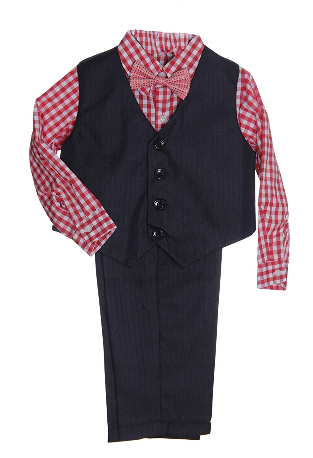 9d4f183e5526 Boys Formal Suit Set - Vest Dress Shirt Pants and Matching Tie Dressy Wear  Outfit By Caldore