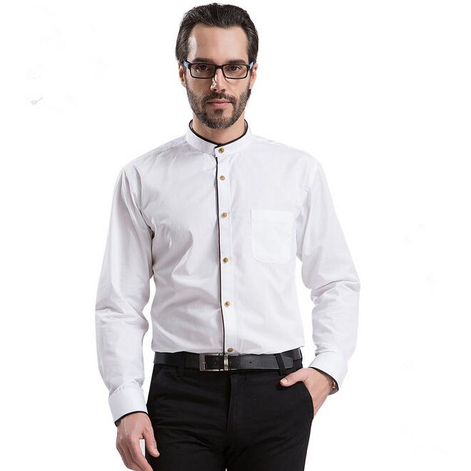 Camisa de hombre cuello mao Casual de negocios la moda de