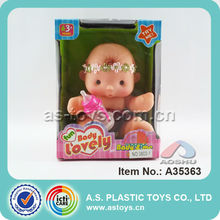 "5.5"" Cute Mini Baby Dolls Toys With Ic For Children"